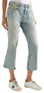 R13 Distressed Denim Flare Leg Jeans-Distressed