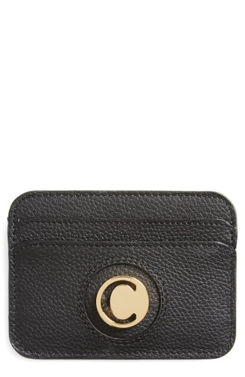 Chloé Slide Calfskin Leather Card Case SOLD OUT Image 0