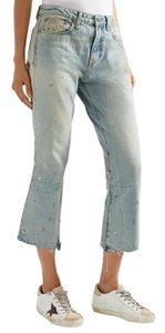R13 Denim Distressed Flare Leg Jeans-Light Wash