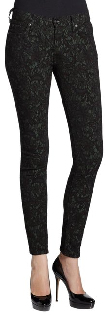 Item - Black and Green Gwenevere Skinny Jeans Size 2 (XS, 26)