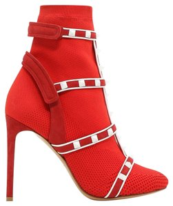 Valentino Louboutin Chanel Rockstud Red Boots