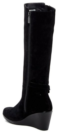Blondo Wedge Tall Riding Suede Waterproof Black Boots Image 1