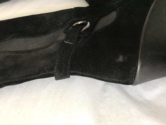Blondo Wedge Tall Riding Suede Waterproof Black Boots Image 5