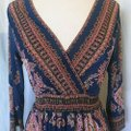 Royal Blue Maxi Dress by L'apogee Maxi Ethnic Tribal Striped Image 4