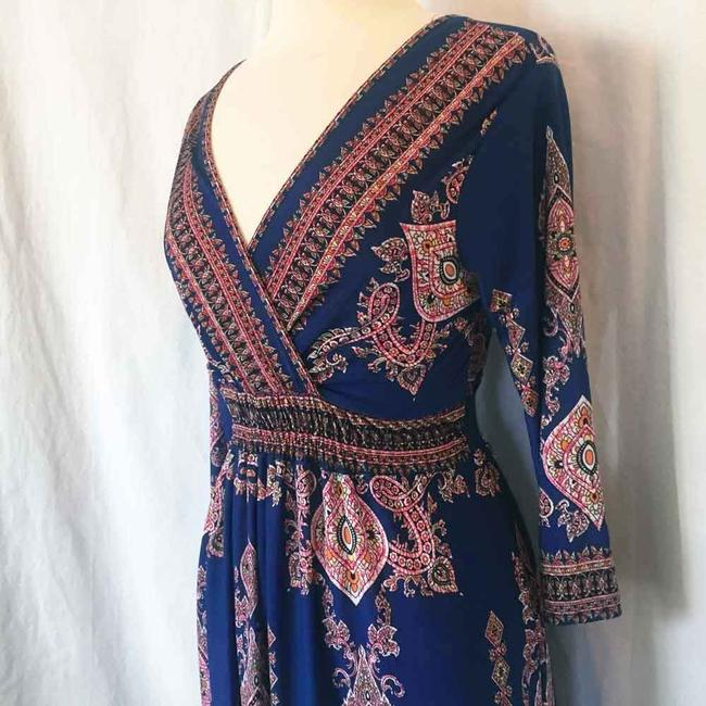 Royal Blue Maxi Dress by L'apogee Maxi Ethnic Tribal Striped Image 6