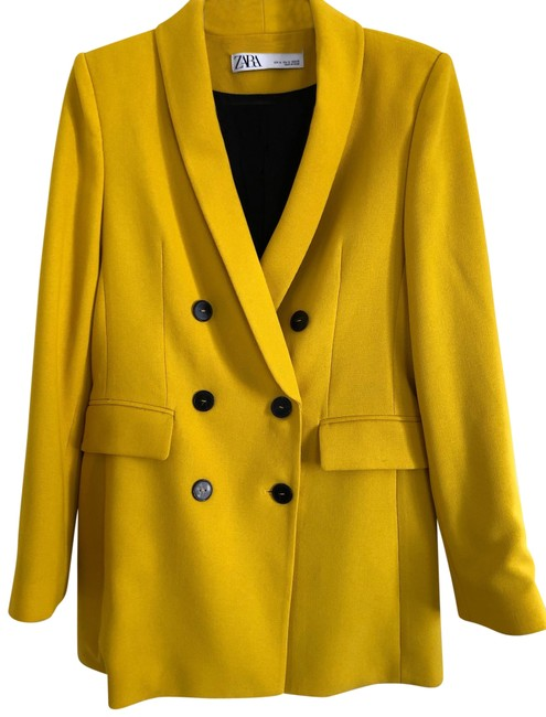 Item - Mustard Yellow Double Breasted Buttoned Blazer Size 8 (M)