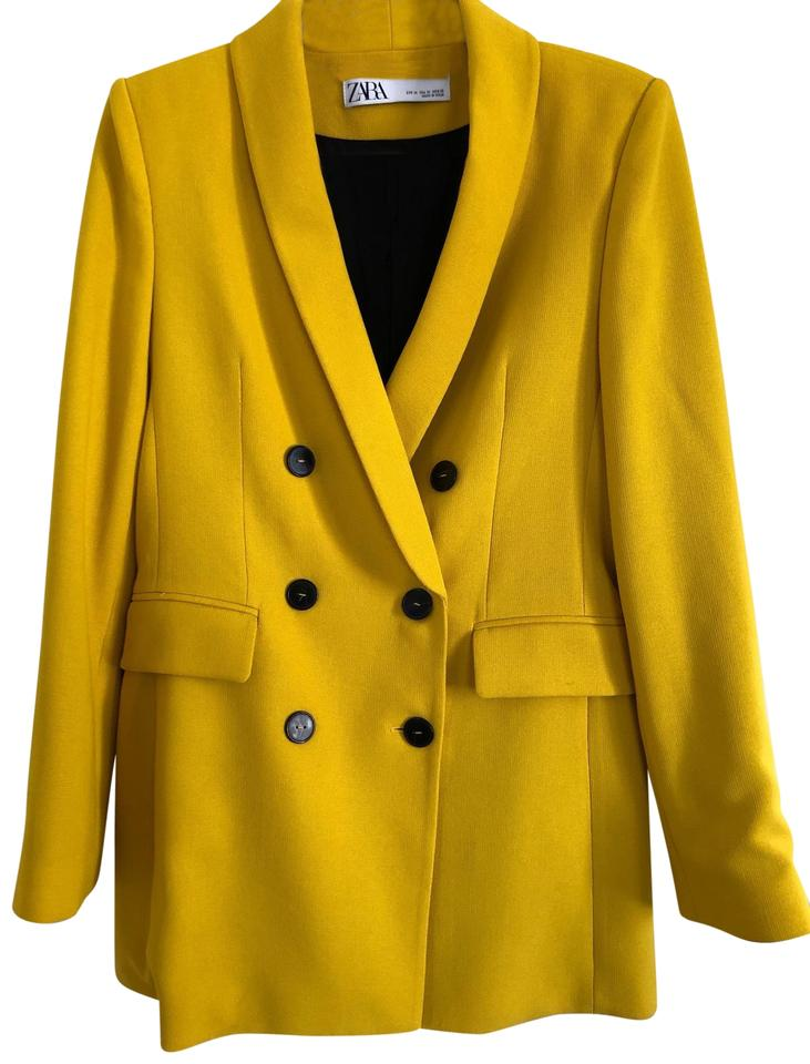 af6bf6f2 Zara Mustard Yellow Double Breasted Buttoned Blazer Size 8 (M) 39% off  retail