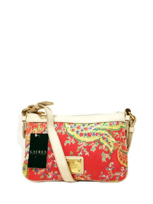 Item - Newbury Small Flat Multi Paisley Canvas Cross Body Bag