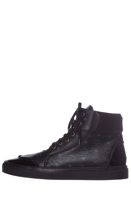 Item - Black Men's Leather High-top Sneakers Size EU 43 (Approx. US 13) Regular (M, B)