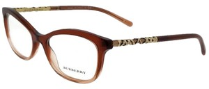 Burberry BE2231-3608-52 Rectangle Womens Brown/Pink Frame Clear Lens Eyeglasses