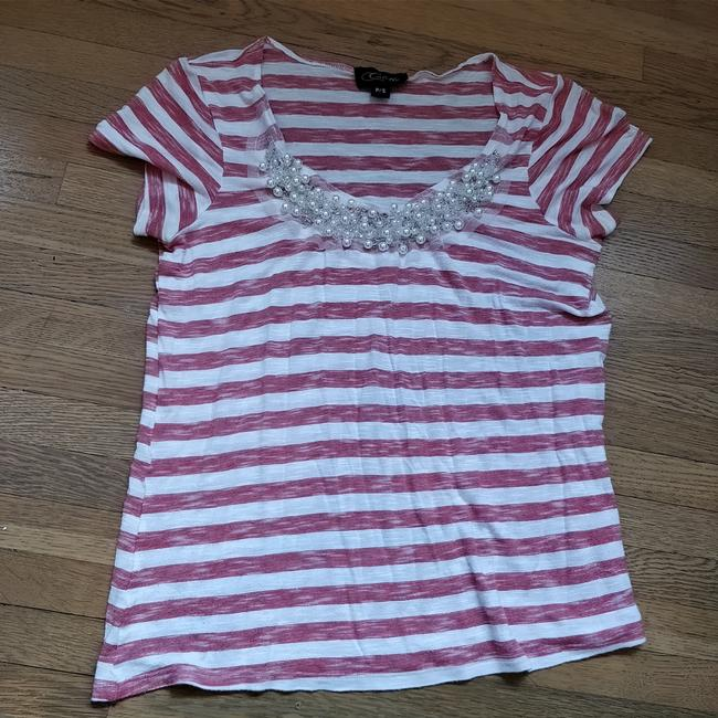 Preload https://item4.tradesy.com/images/colette-striped-with-pearl-beaded-neckline-tee-shirt-size-4-s-25528233-0-0.jpg?width=400&height=650