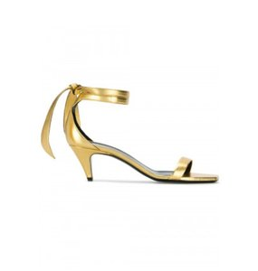 Saint Laurent Gold Sandals