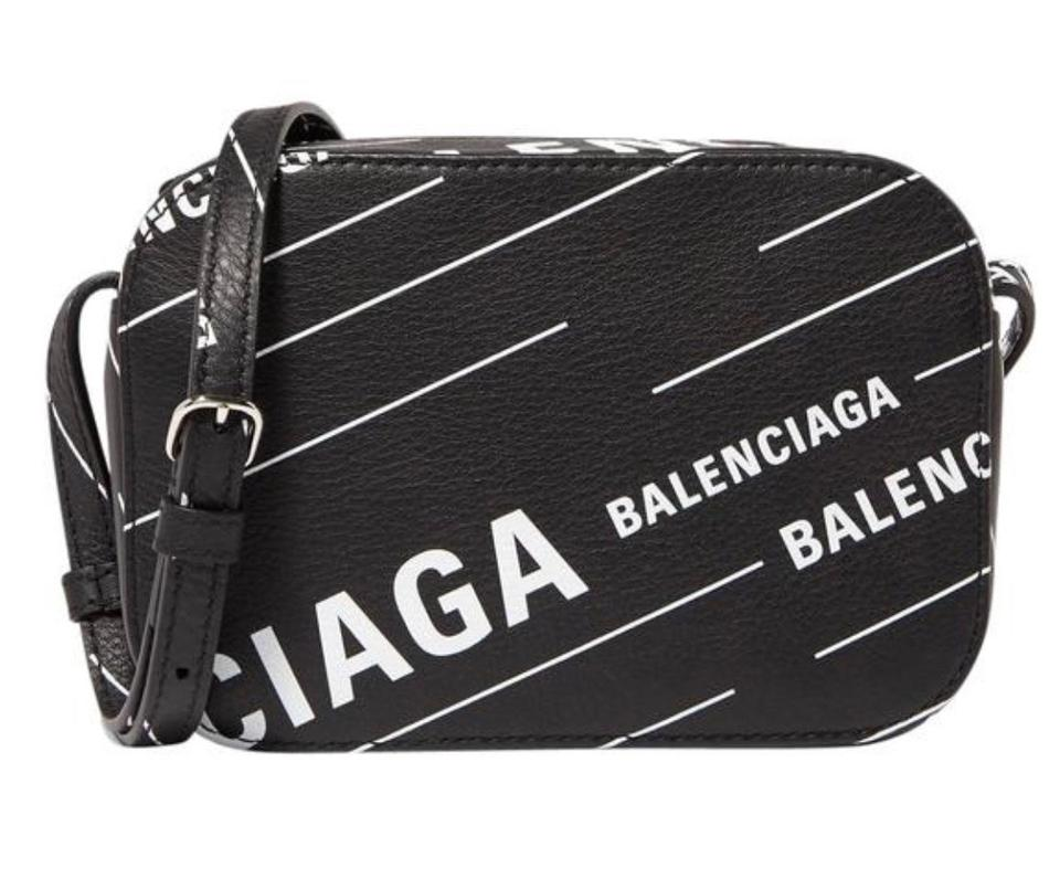6374b8338739 Balenciaga Camera XS Everyday Aj Printed Textured-leather Cross Body ...