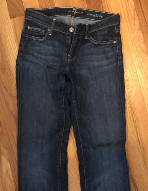 7 For All Mankind Straight Leg Jeans-Dark Rinse Image 7