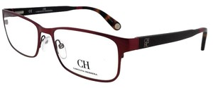 Carolina Herrera VHE074-08C6-56 Rectangle Women's Red Tortoise Frame Eyeglasses