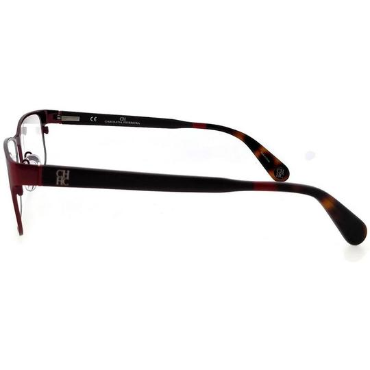 Carolina Herrera VHE074-08C6-56 Rectangle Women's Red Tortoise Frame Eyeglasses Image 2