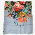 Gucci NEW GUCCI Josephine Silk Twill Flowers Scarf Image 0