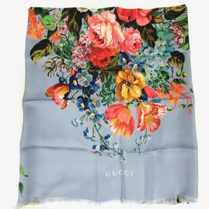 Gucci NEW GUCCI Josephine Silk Twill Flowers Scarf