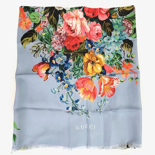 Gucci NEW GUCCI Josephine Silk Twill Flowers Scarf Image 1
