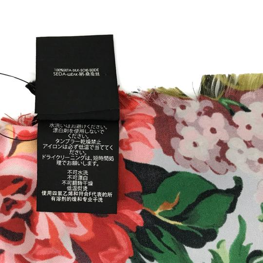 Gucci NEW GUCCI Josephine Silk Twill Flowers Scarf Image 10