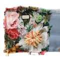 Gucci NEW GUCCI Josephine Silk Twill Flowers Scarf Image 11