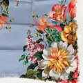 Gucci NEW GUCCI Josephine Silk Twill Flowers Scarf Image 2