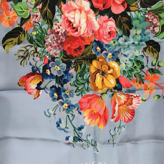 Gucci NEW GUCCI Josephine Silk Twill Flowers Scarf Image 3