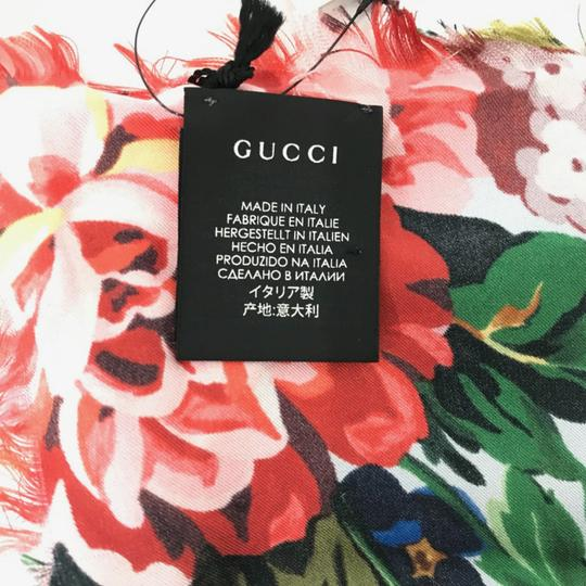 Gucci NEW GUCCI Josephine Silk Twill Flowers Scarf Image 4