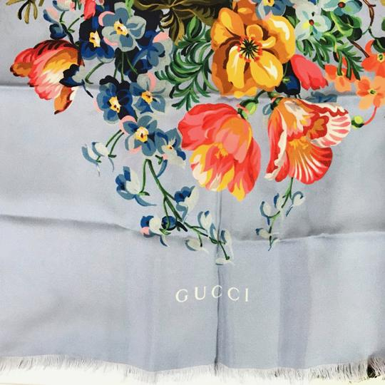 Gucci NEW GUCCI Josephine Silk Twill Flowers Scarf Image 5