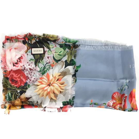 Gucci NEW GUCCI Josephine Silk Twill Flowers Scarf Image 6