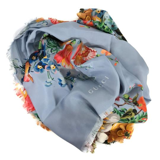 Gucci NEW GUCCI Josephine Silk Twill Flowers Scarf Image 7