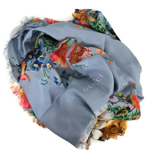 Gucci NEW GUCCI Josephine Silk Twill Flowers Scarf Image 8