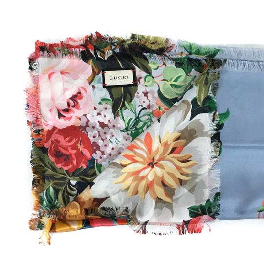 Gucci NEW GUCCI Josephine Silk Twill Flowers Scarf Image 9