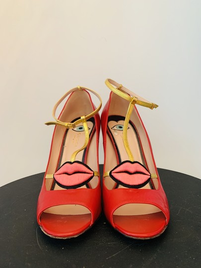 Gucci Molina Lips Leather Musthave Iconic Red Pumps Image 1