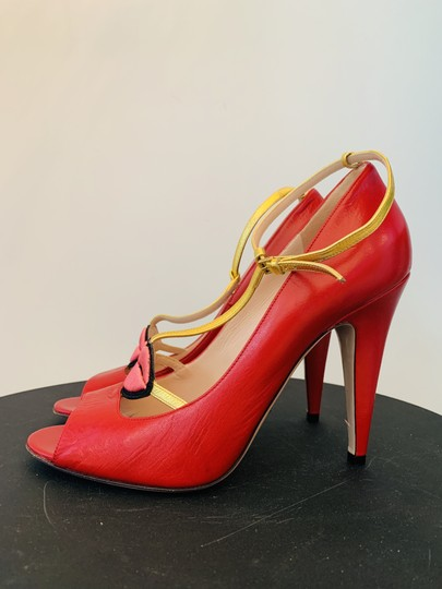 Gucci Molina Lips Leather Musthave Iconic Red Pumps Image 2