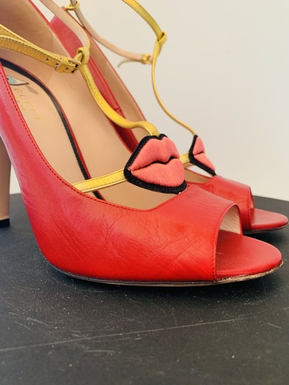 Gucci Molina Lips Leather Musthave Iconic Red Pumps Image 6