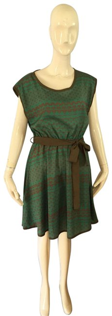 Item - Green and Olive Green Short Casual Dress Size 4 (S)