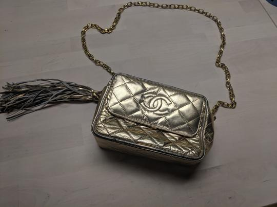 Chanel Quilted Chain Front Flap Metallic Tassels Cross Body Bag Image 2
