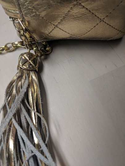 Chanel Quilted Chain Front Flap Metallic Tassels Cross Body Bag Image 8