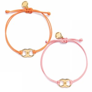 Tory Burch New Tory Burch Embrace Ambition Silk Gemini Bracelet ORANGE & PINK