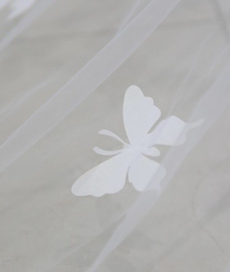 Long White/Ivory 2t Butterfly Cathedral 10ft-16ft Bridal Veil Image 5