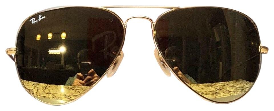9608839d10a9 Ray-Ban Ray-Ban Aviator Sunglasses RB3025 112/93 58mm Matte Gold Frame ...