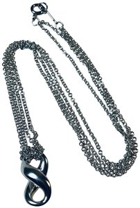 """Tiffany & Co. Infinity Double Chain Necklace 16"""""""