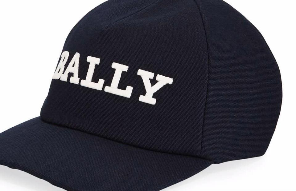 c7e1938b0 Bally Navy Men's Embroidered Logo Baseball Cap Hat 45% off retail