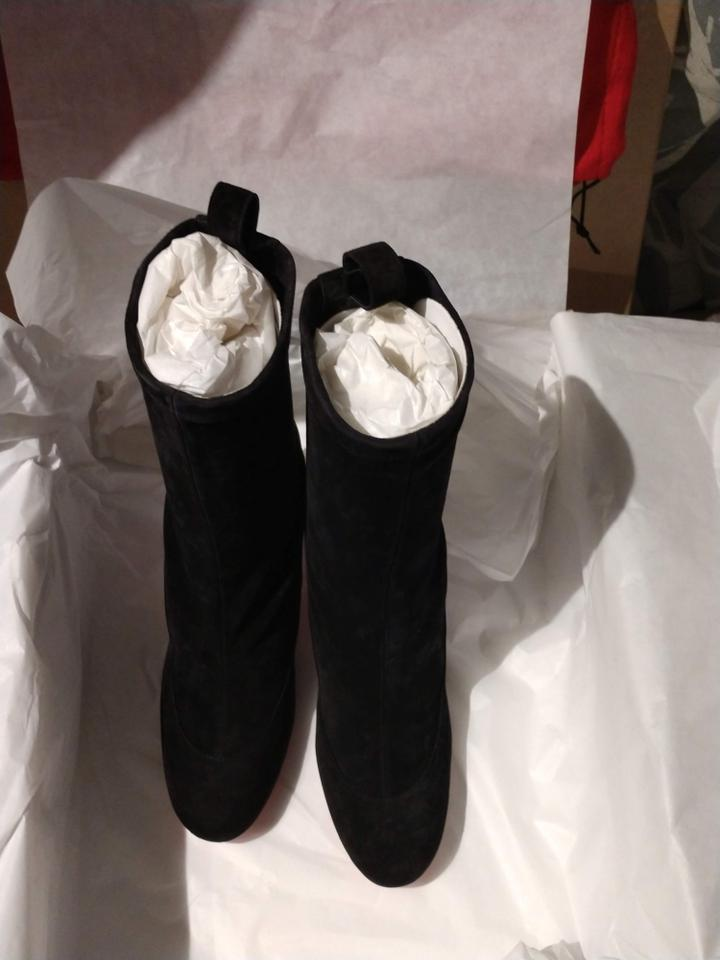 sports shoes ad777 6ea30 Christian Louboutin Black Gena 85 Suede Ankle Boots/Booties Size EU 37.5  (Approx. US 7.5) Regular (M, B) 32% off retail