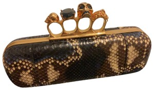 Alexander McQueen mixed with python skin Clutch