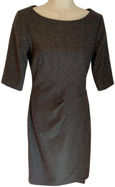 Item - Brown and White Almost New Lydia Mid-length Work/Office Dress Size 2 (XS)