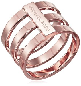 Michael Kors MKJ4055 Michael Kors Tri-Stack Ring Polished Rose Gold Tone Sz 6