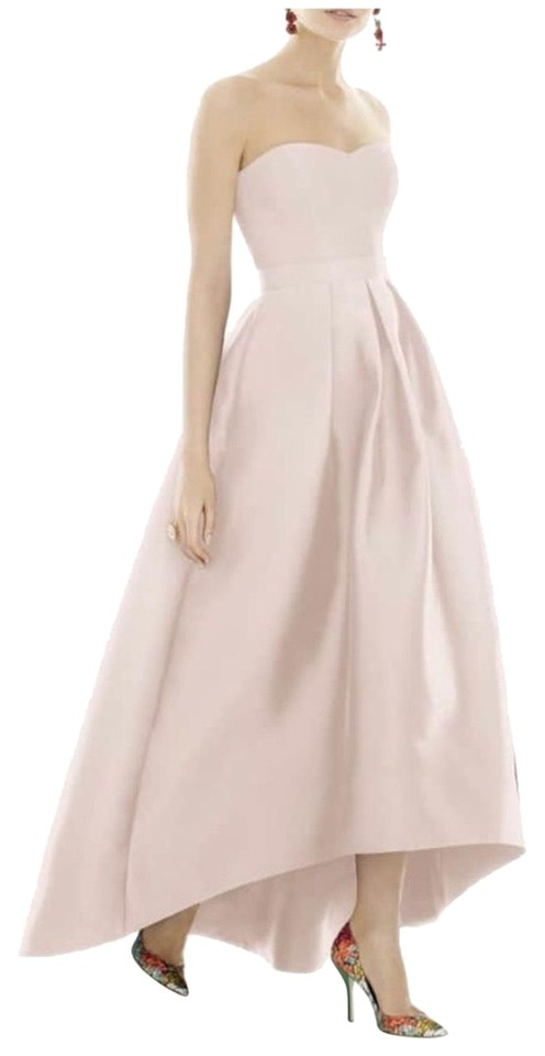 Alfred Sung Blush Strapless High Low Gown Long Formal Dress Size 4 S 40 Off Retail
