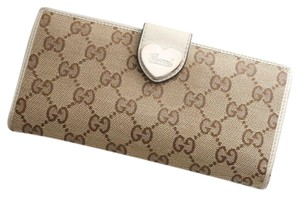 Gucci GUCCI Heart G-G Monogram Long Bifold Wallet - item med img